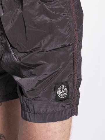 STONE ISLAND B0643 SHORTS MARE IN NYLON Nero Trymeshop.it