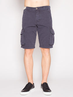 40WEFT - NICK 4148 - Shorts cargo DARK BLUE-Shorts-40Weft-TRYME Shop