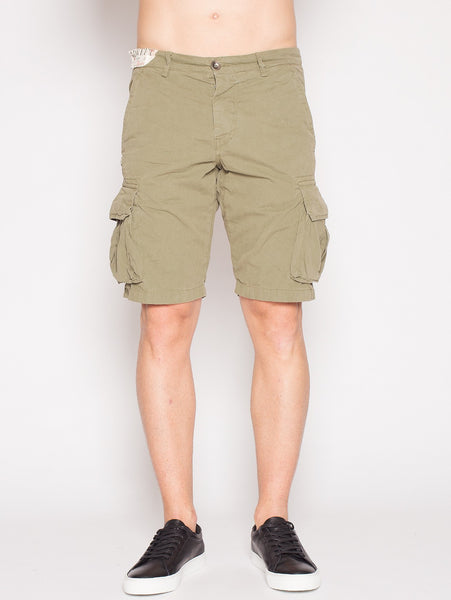 40Weft 40WEFT - NICK 4148 - Shorts cargo MILITARE Trymeshop.it
