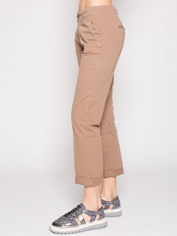 40WEFT - VENUS - Pantaloni Chino regular fit MARRONE-Pantaloni-40Weft-TRYME Shop