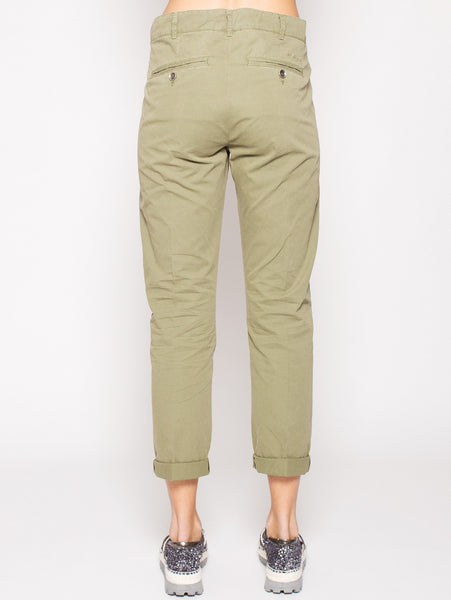 40Weft 40WEFT - VENUS - Pantaloni Chino regular fit MILITARE Trymeshop.it