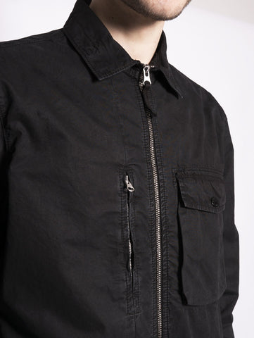 STONE ISLAND 121WN - OVERSHIRT  TINTO 'OLD' Nero Trymeshop.it