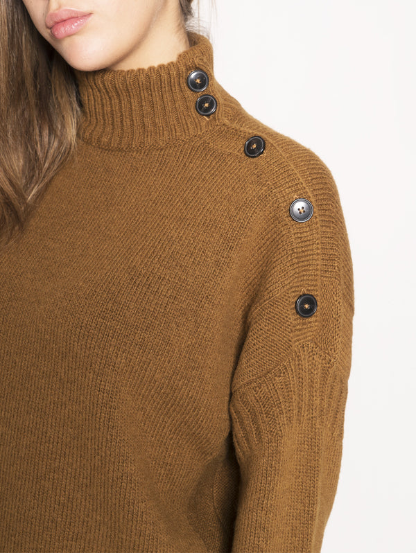Turtle Neck Sweater  Marrone