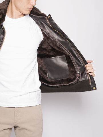 SCHOTT Bomber in pelle 184SM Marrone Trymeshop.it