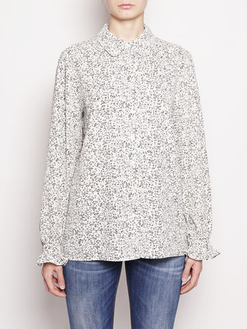 ESSENTIEL BLUSA - POLICE LONG SLEEVED SHIRT Bianco / Nero Trymeshop.it