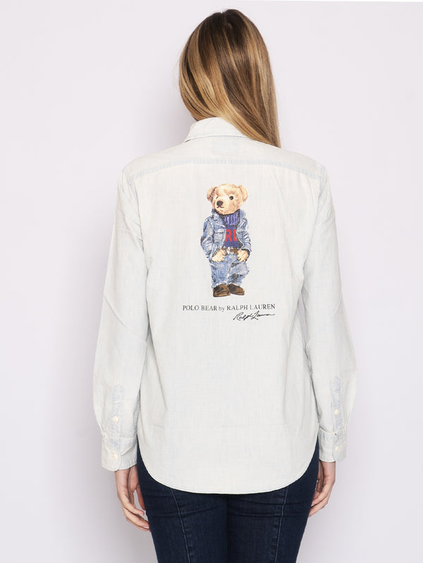 RALPH LAUREN-Camicia con Polo Bear Chambray-TRYME Shop