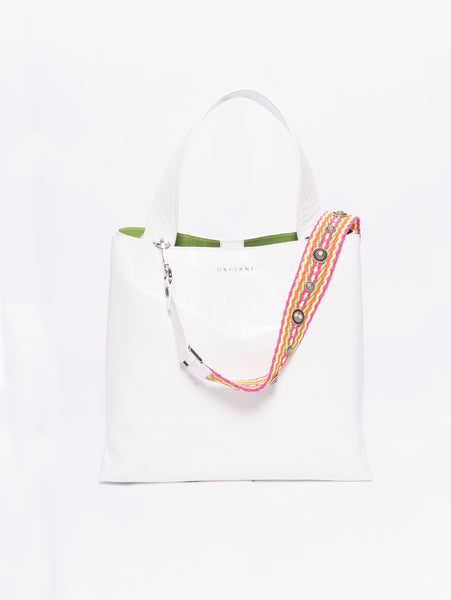 ORCIANI Shopper - B02031 Vernice Bianco Trymeshop.it