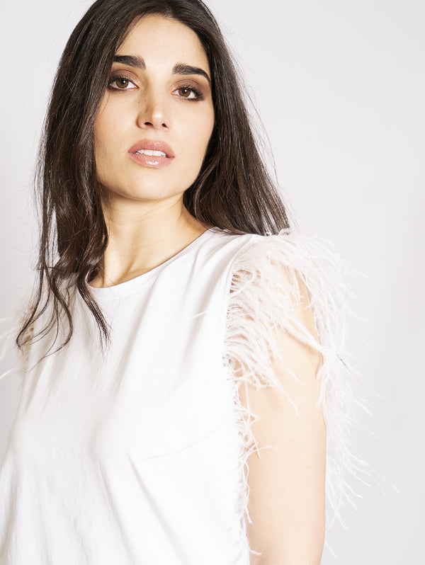 White Feathers Top