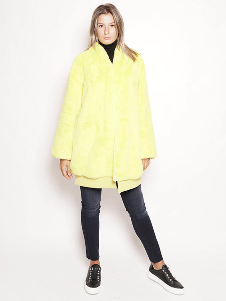 OOF Pelliccia ecologica reversibile Giallo Trymeshop.it