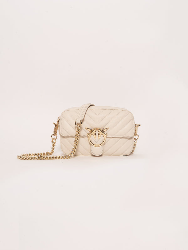 PINKO-Borsa Motivo Chevron Square Mix Bianco-TRYME Shop