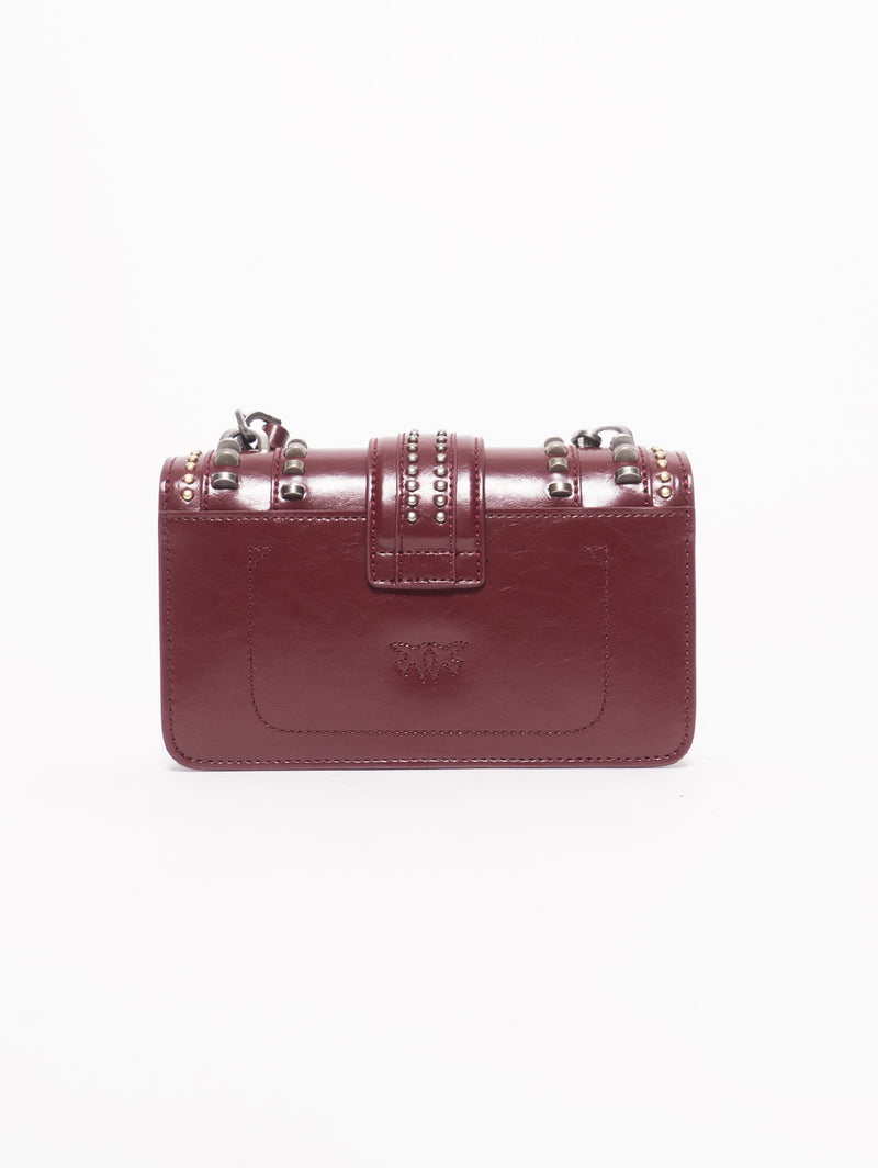 Borsa Mini Love Bag Mix Studs Rosso