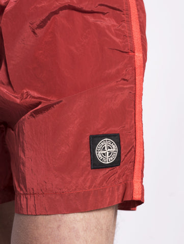 STONE ISLAND B0643 SHORTS MARE IN NYLON Rosso Trymeshop.it