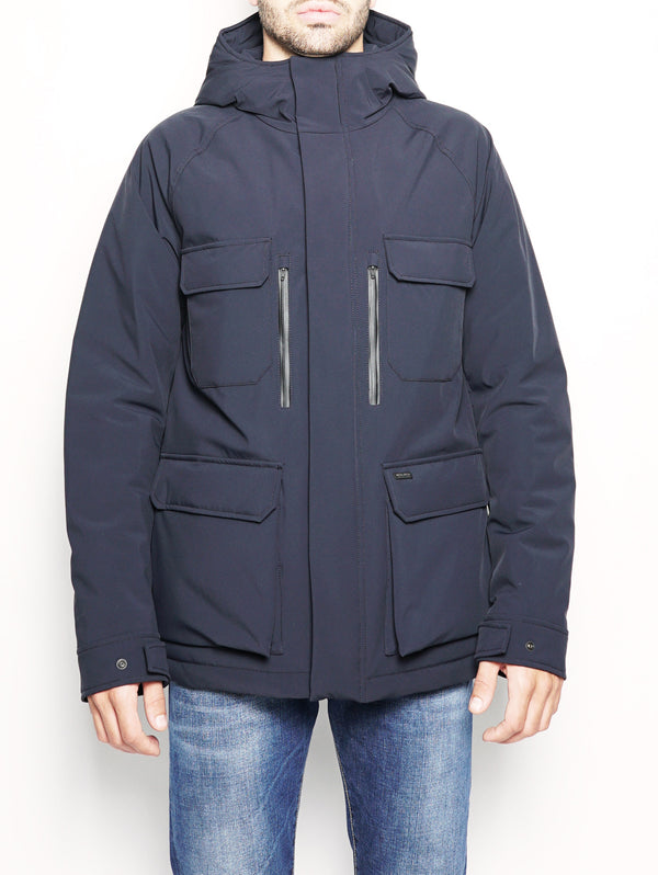 WOOLRICH-Field Jacket in Thermore Booster Blu-TRYME Shop