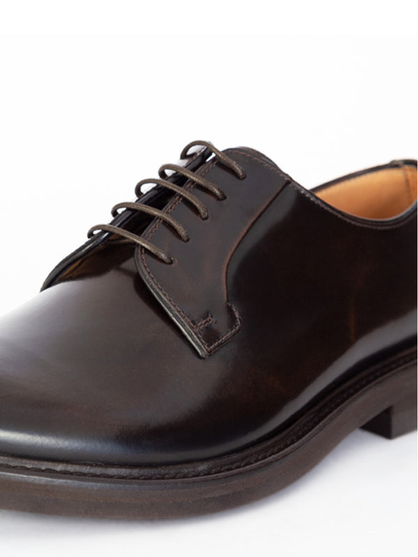 Classic Derby with rubber sole - 3810 Brown