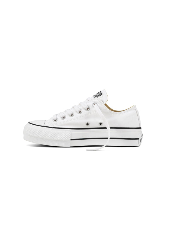 CONVERSE-Sneakers Chuck Taylor Platform Low Top Bianco-TRYME Shop