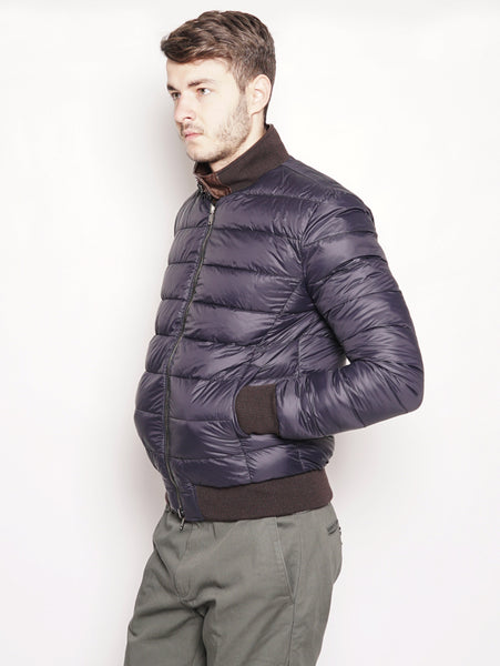 SICAS Bomber in pelle e piumino reversibile Marrone Trymeshop.it