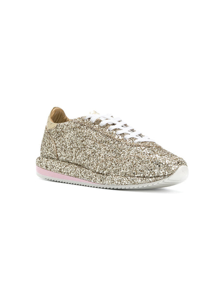 SNEAKERS IN PELLE 45MM  Glitter Oro