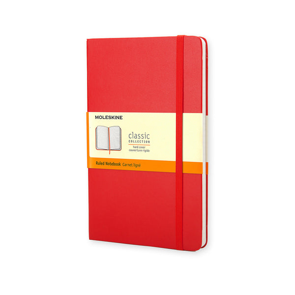 Moleskine-Taccuino rosso a righe hard - Large QP060R ROSSO-TRYME Shop