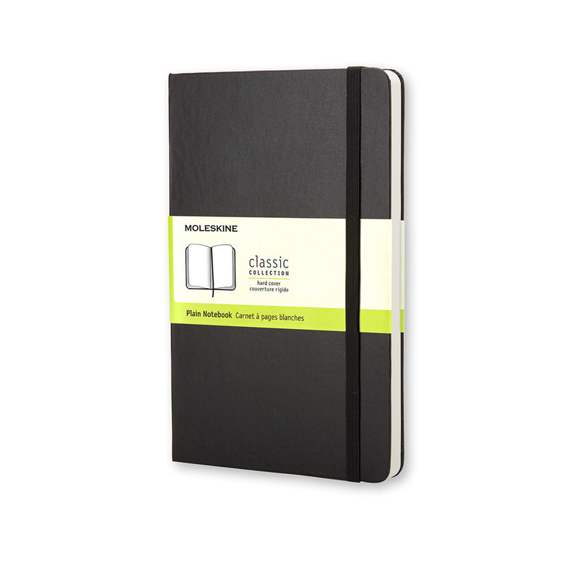 Moleskine-Taccuino a pagine bianche hard - Large QP062 NERO-TRYME Shop