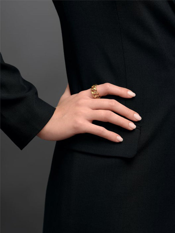 Anello Ring Chain Oro