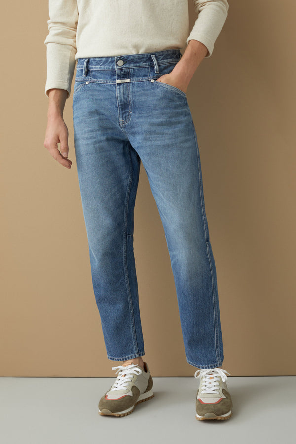 Jeans Relaxed Fit Mid Blue