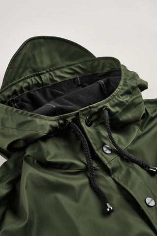 Rains Rains - LONG JACKET 1202 VERDE Trymeshop.it