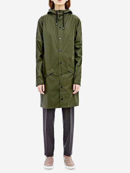 Rains Rains - LONG JACKET 1202 VERDE Jacket - TRYMEShop