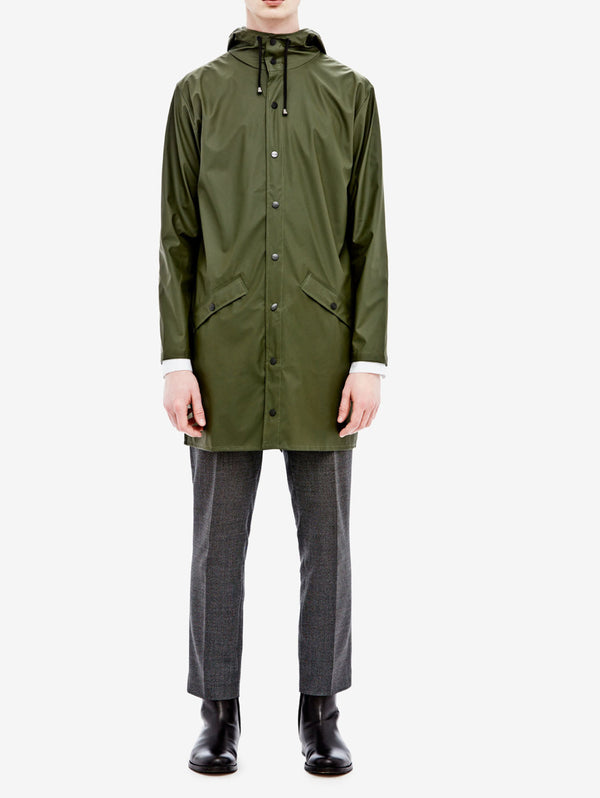 Rains - LONG JACKET 1202 VERDE-Jacket-Rains-TRYME Shop