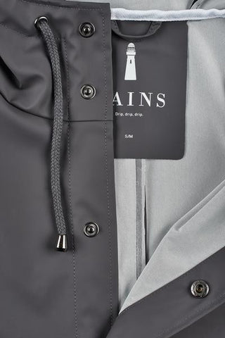 Rains Rains - LONG JACKET 1202 GRIGIO Trymeshop.it
