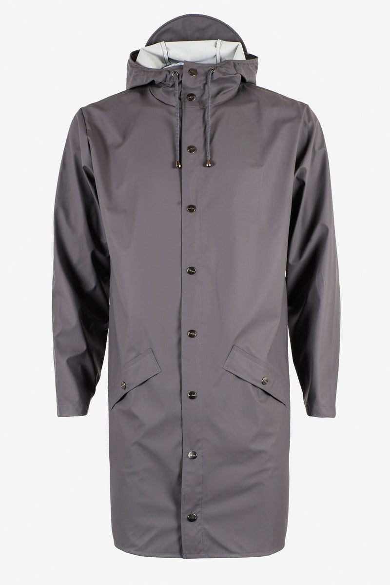 Rains - LONG JACKET 1202 GRIGIO-Jacket-Rains-TRYME Shop
