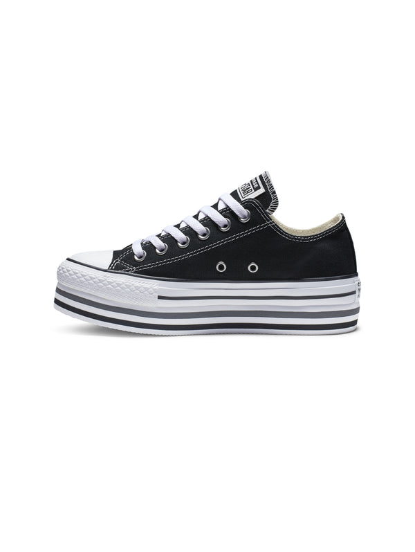 CONVERSE-Chuck Taylor All Star Platform Low - Nero-TRYME Shop