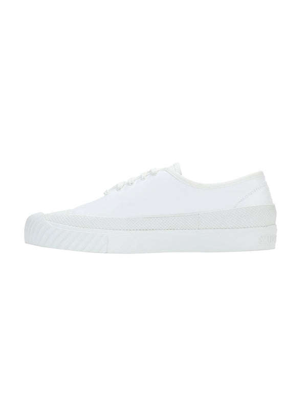 STONE ISLAND-Sneakers Deck Basse con Logo Bianco-TRYME Shop