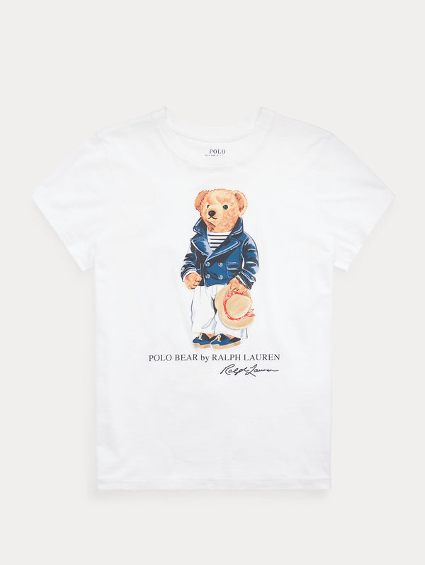 RALPH LAUREN-T-shirt Polo Bear White-TRYME Shop