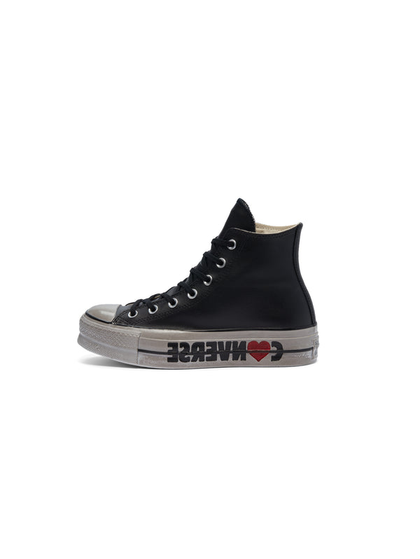 CONVERSE-Wordmark Platform Chuck Taylor All Star High Top - Nero-TRYME Shop