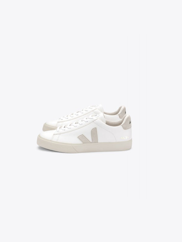 VEJA-Sneakers Sostenibili in Pelle Campo Donna Bianco-TRYME Shop