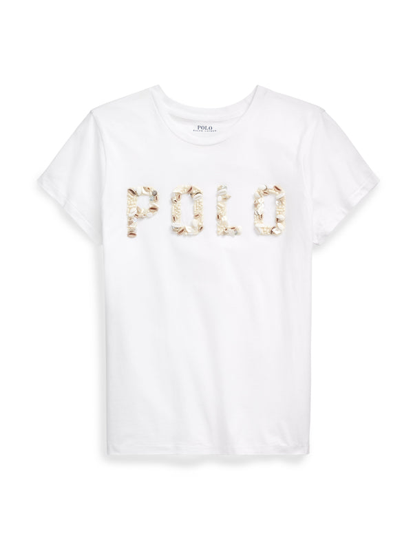 RALPH LAUREN-T-shirt con Logo Conchiglie Bianco-TRYME Shop