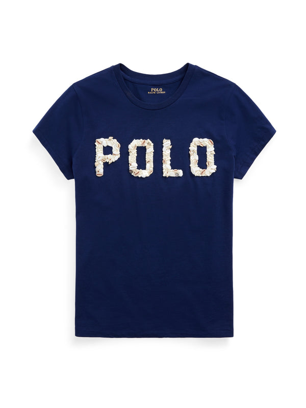 RALPH LAUREN-T-shirt con Logo Conchiglie Navy-TRYME Shop