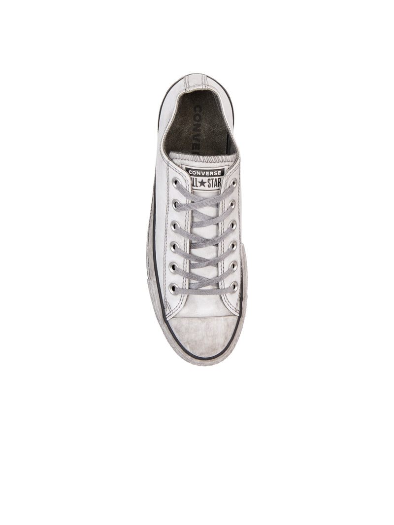 Chuck Taylor All Star Platform Low in Pelle - Bianco