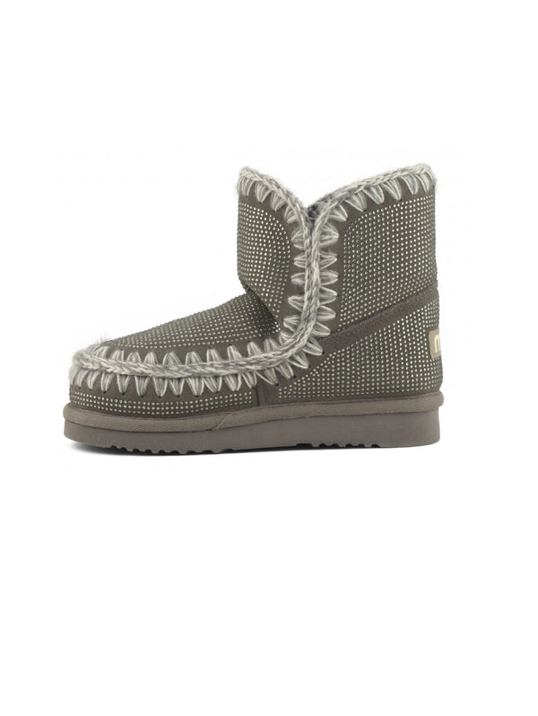 MOU-Stivaletto con Borchie a Diamante - Grigio-TRYME Shop