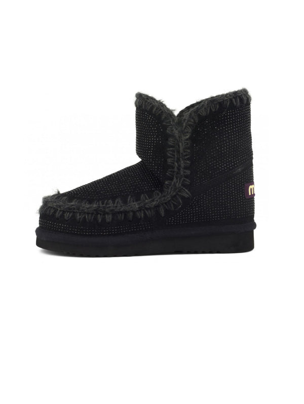 MOU-Stivaletto con Borchie a Diamante - Nero-TRYME Shop