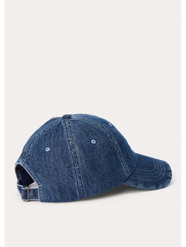Cappellino da baseball in denim