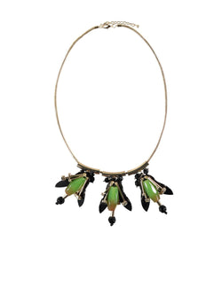 Essentiel-Collana con Ciondoli Verde-TRYME Shop