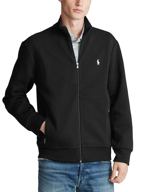 RALPH LAUREN-Felpa full zip con Collo Dritto - Black-TRYME Shop