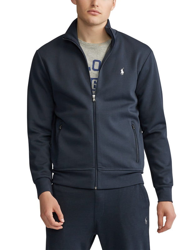 RALPH LAUREN-Felpa full zip con Collo Dritto - Navy-TRYME Shop