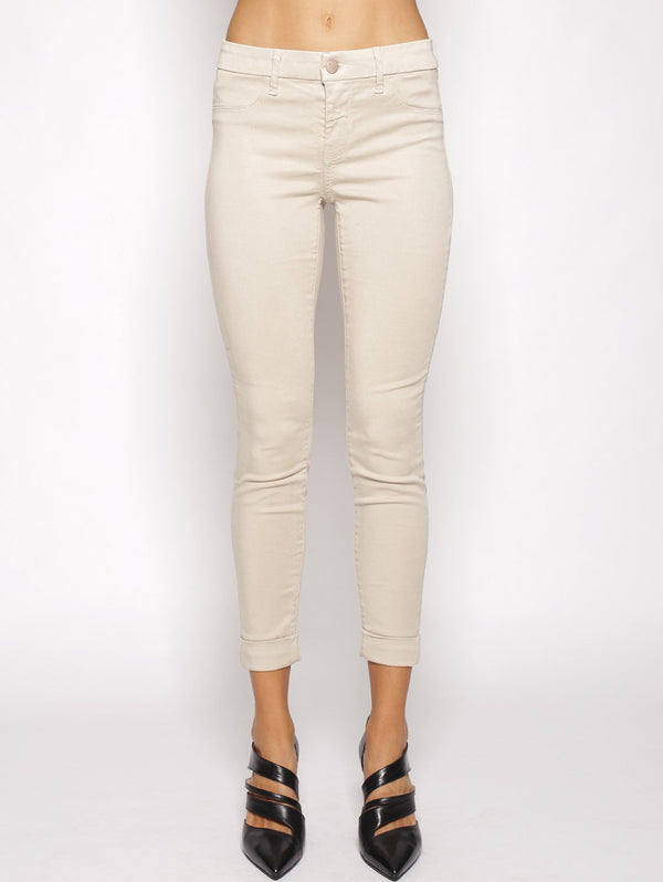 J brand-8020 ANJA CLEAN CUFFED CROPPED AVORIO-TRYME Shop