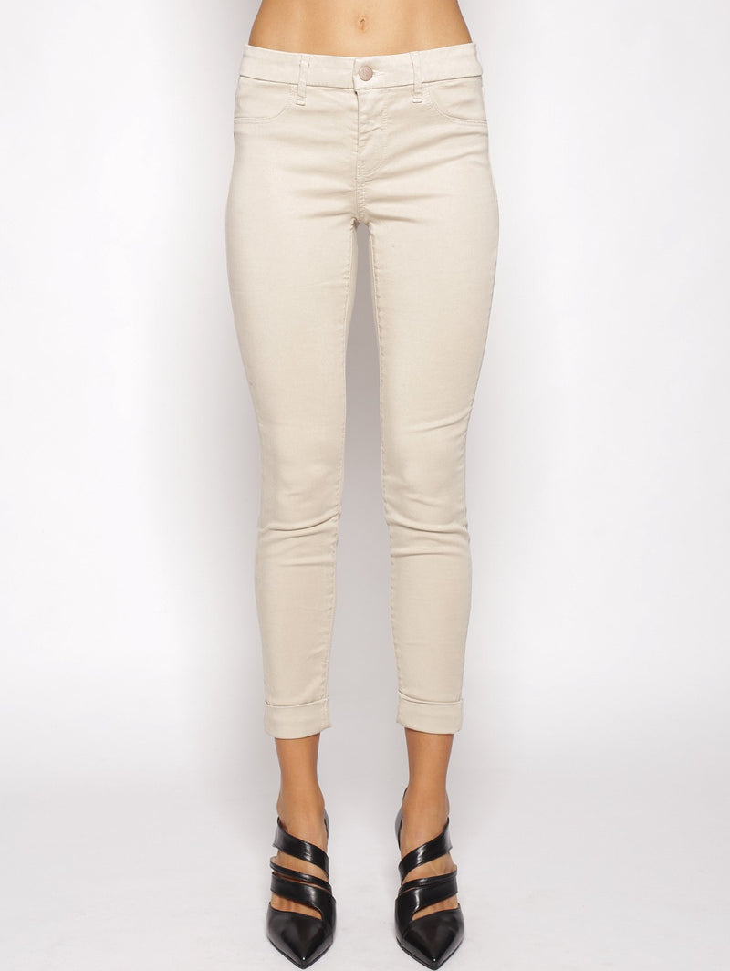 J BRAND-Jeans Anja Clean Cuffed Cropped Avorio-TRYME Shop