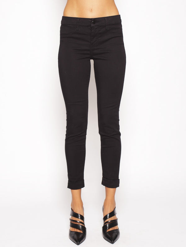 J BRAND-Jeans Anja Clean Cuffed Cropped Nero-TRYME Shop
