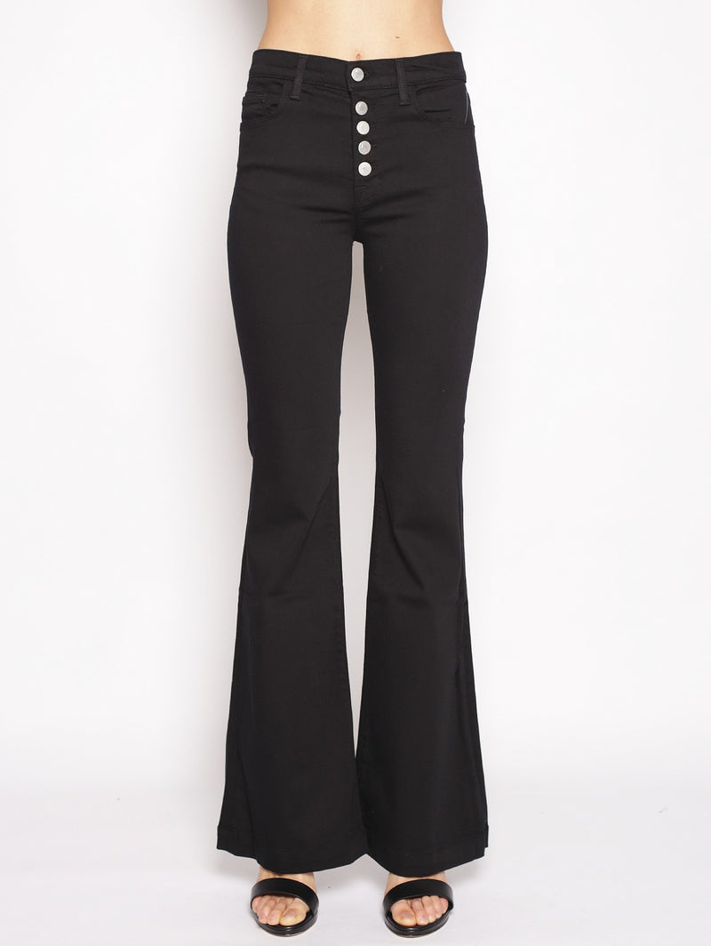 J BRAND-Jeans Maria Flare in Seriously Black Nero-TRYME Shop