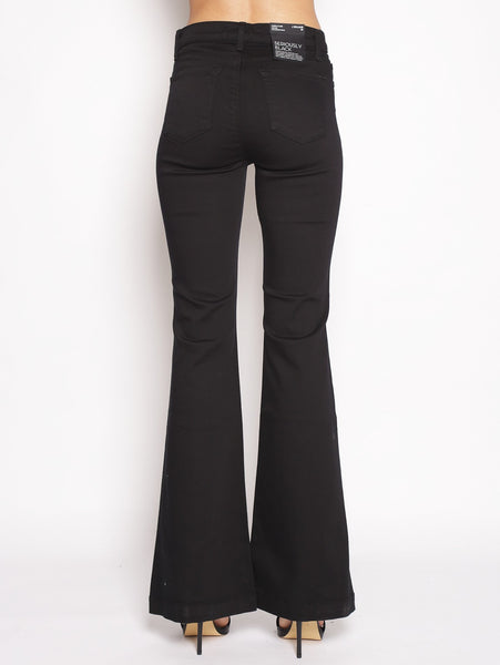 J brand J BRAND - Maria Flare con Bottoni a vista - SERIOUSLY BLACK NERO Trymeshop.it