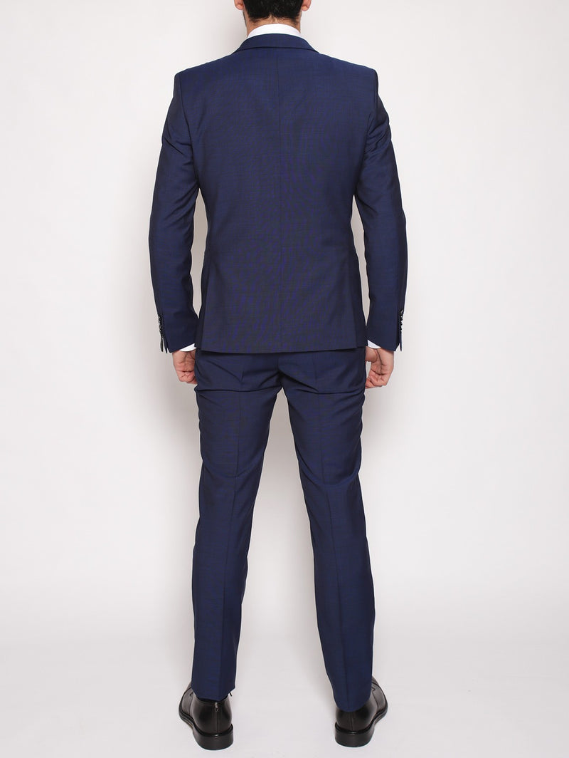 MANUEL RITZ - Abito slim fit in fresco lana NAVY-Completi-Manuel Ritz-TRYME Shop